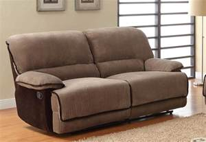 homelegance grantham sofa dual recliner brown corduroy