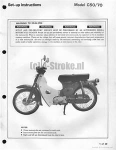 Setup Manual For Honda C70 - Honda 4-stroke Net