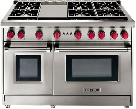 wolf  stainless steel gas range  griddle grg