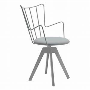 Chaise Design Metal : chaise pivotante design en synth tique et m tal well 4 ~ Teatrodelosmanantiales.com Idées de Décoration