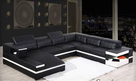 canap d angle en u canapé d 39 angle en cuir félice u lecoindesign