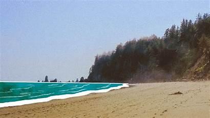 Plastic Island Pollution Garbage Beach Sea Water
