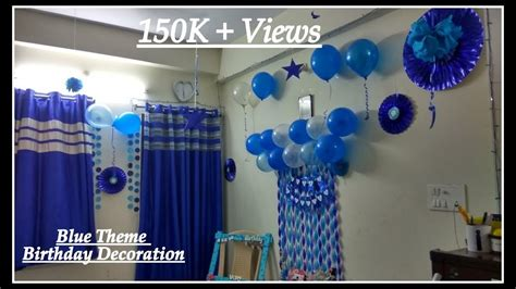 birthday decorations ideas  home blue theme decoration