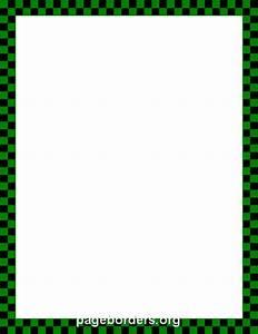 Green and Black Checkered Border: Clip Art, Page Border ...