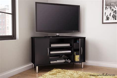 Renta Corner Tv Stand In Pure Black Home Furniture