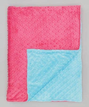 loving  fuchsia turquoise minky toddler blanket
