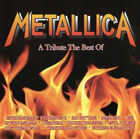 the best of metallica a tribute the best of metallica cd cover hv茆zda