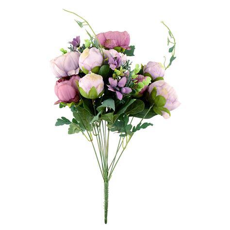 artificial peony silk flowers bridal hydrangea garden
