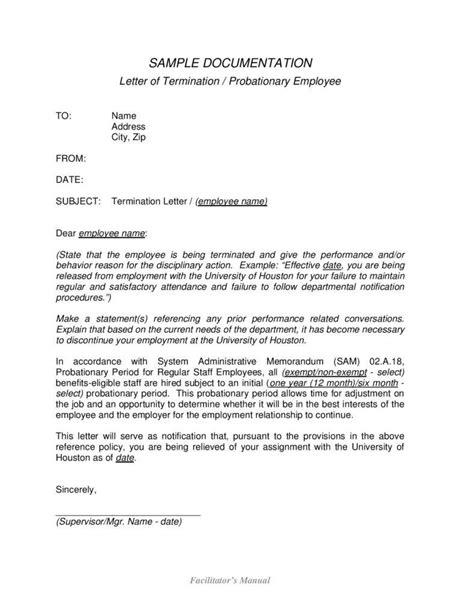 employment termination letter employee separation letter 7764