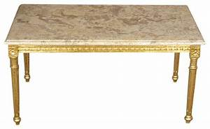 solid wood small gold coffee table w marbletop With solid gold coffee table