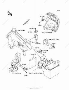 Kawasaki Motorcycle 2007 Oem Parts Diagram For Fuel