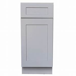 Shaker Gray Base Cabinet With 1 Door And 1 Drawer