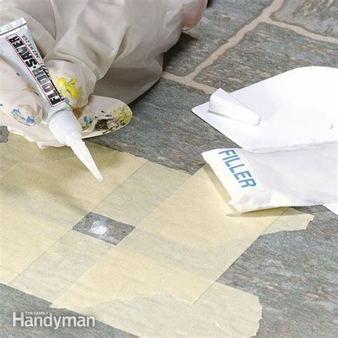 linoleum flooring repair repairing vinyl flooring the family handyman