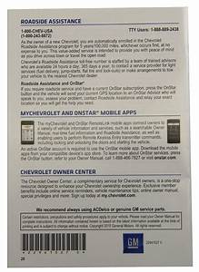 2015 Chevy Malibu Us Owners Manual Booklet W  Warranty Book