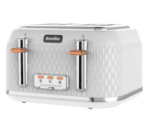 Buy 4 Slice Toaster by Buy Breville Curve Vtt787 4 Slice Toaster White Free