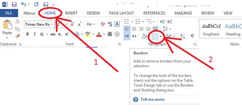 Can't remove a line or border in Word 2013 - Super User