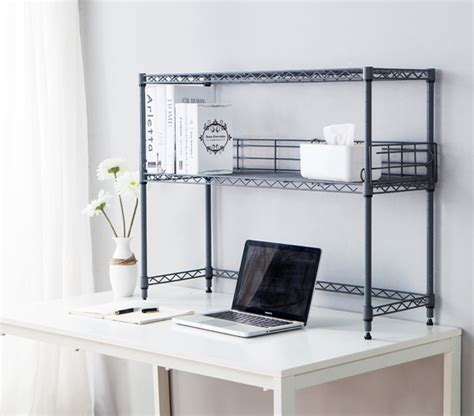 Desktop Bookcase by Suprima Desktop Metal Bookshelf Gray