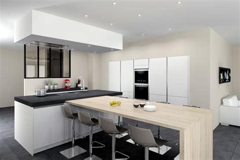 modele cuisine noir et blanc idées déco pour une cuisine réaliste et pleine de vie