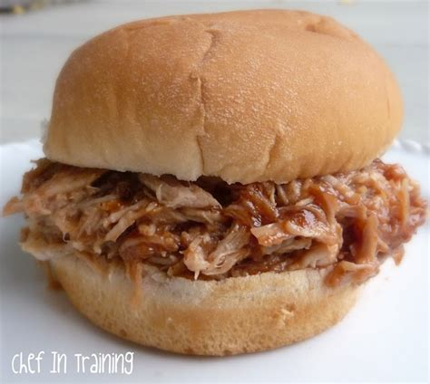 pulled pork in a crock pot pulled bbq pork chef in