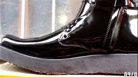sepatu pdh boot sepatu pdh asli kulit sol tebal rata merk ciarmy youtube