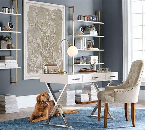 glam white desks   home office   style