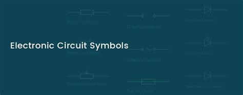 electronic circuit symbols components  schematic diagram symbols
