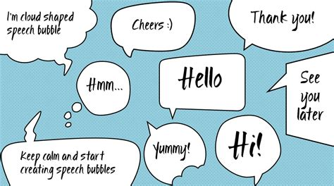 Thought Bubble Powerpoint Template freebie speech and thought bubbles in powerpoint