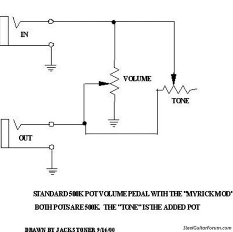 the steel guitar view topic wiring diagram for volume pedal