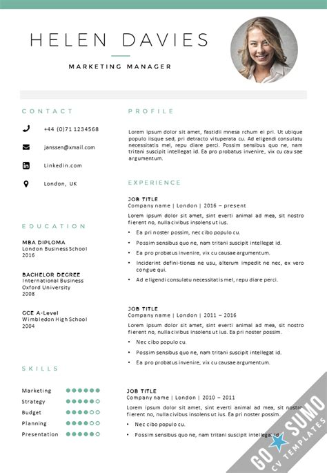curriculum vitae layout template cv template london cv cover letter template in word
