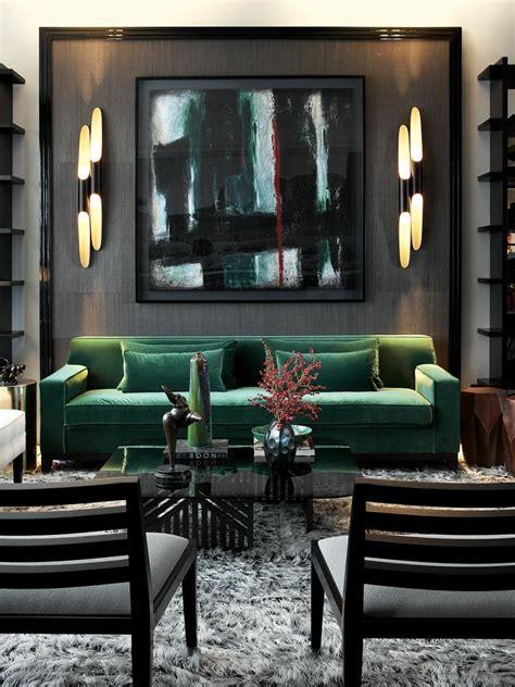 green sofa living room go bold emerald black living room bold abstract
