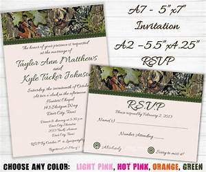 camo wedding invitation and rsvp cards hunting With free printable redneck wedding invitations