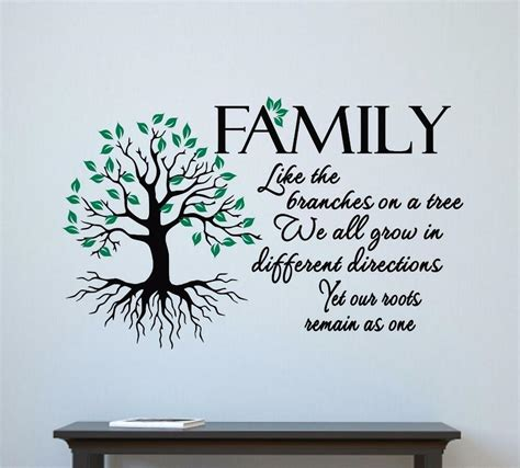 Family Like Branches On A Tree Vinyl Decal Wall Sticker