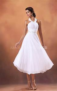Casual wedding dresses short white bride dress for beach for White casual wedding dress
