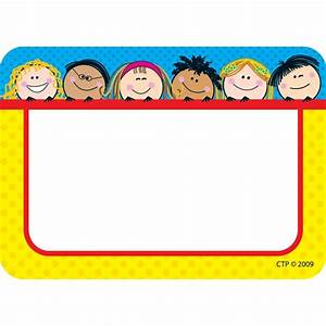 Smiling Stick Kids Name Tags CM School Supply