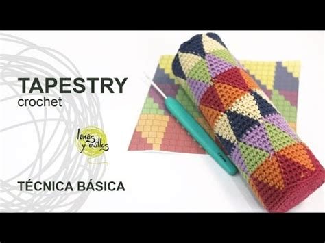 tutorial tapestry jacquard crochet  ganchillo tecnica