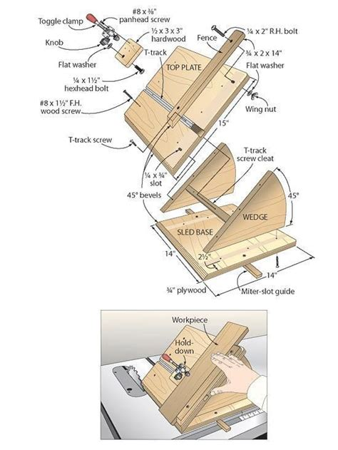 quick action miter sled woodworking plan