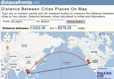 distancefromtonet distance cities places map