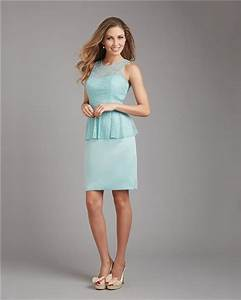 column scoop neck short mint green satin lace peplum With mint green dress for wedding guest
