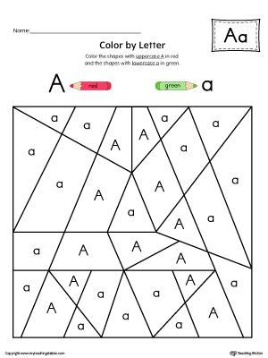 uppercase letter  color  letter worksheet  images