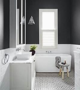 peinture salle de bain 2016 2017 77 photos qui vont With salle de bain taupe et blanc