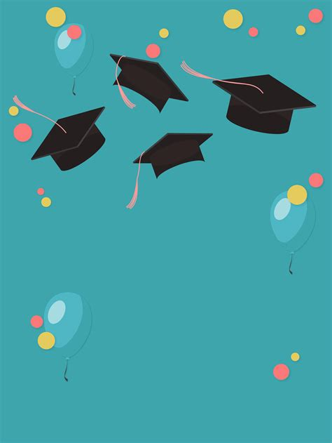 graduation season simple blue background material map
