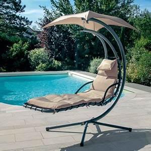 fauteuil suspendu en 10 idees canon pour l39exterieur With transat de piscine design 6 transat balancelle de jardin design hamac hesperide