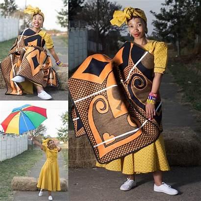 Seshoeshoe South Traditional Dresses Africa African Shweshwe