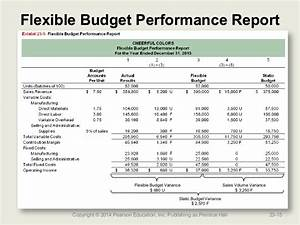Flexible budget performance report template 4 for Flexible budget performance report template