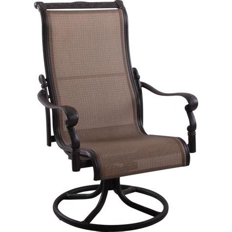 high back swivel patio chairs bay 3 sling high back swivel rocker patio