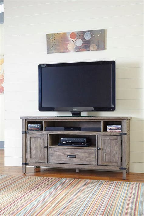 kitchen cabinets outlet rustic weathered gray entertainment console with 3149