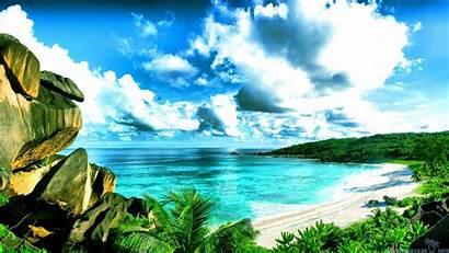 Seychelles Beach Wallpapers Beaches Sea Pc Vegetation