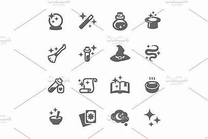 Magic Icons Creativemarket Davooda Line Icon Graphics