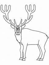 Coloring Pages Elk Animals Printable Hunting Coloringpagebook Popular Advertisement Coloringhome sketch template