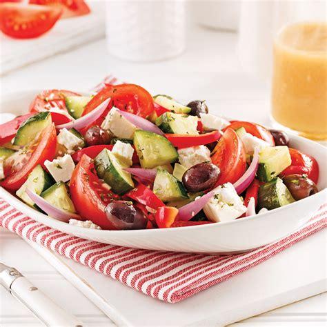 recette cuisine grecque salade grecque recettes cuisine et nutrition pratico